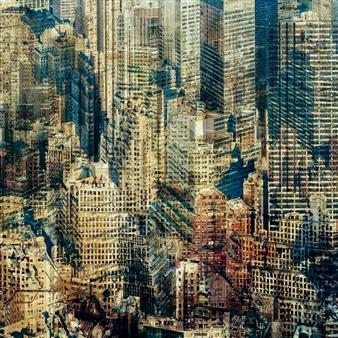 Florian Mueller - Multivision Manhattan XIV Photograph on Plexiglass, Photography