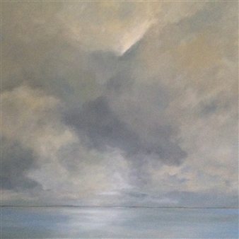 Luba M. Caruso - Storm At Seabright Oil on Canvas, Paintings