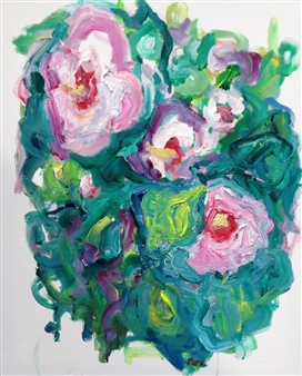 Susan Marx - Pinks Acrylic on Canvas, Paintings