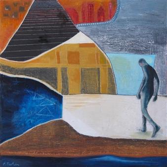 Irit Epstein - Odysseus Oil on Board, Paintings