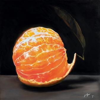 Yuliya Pogreb - Tangerine Oil on Canvas, Paintings