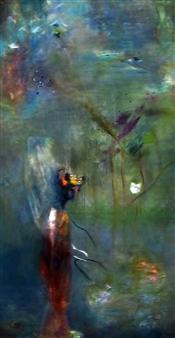 Mali Lasker - Trip in a Stroller Oil on Canvas, Paintings