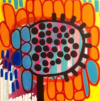 Luz Benavente - Sunflowers Acrylic on Canvas, Paintings
