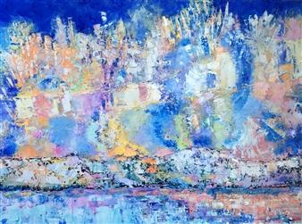 Monika Gloviczki - Celebration Oil on Canvas, Paintings