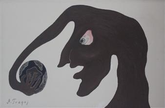 Ardian Tragaj - Human Ego Acrylic on Canvas, Paintings