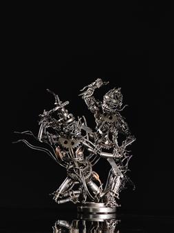 Banjerd Lekkong - Hanuman's Fighting Wirunjambang Iron, Sculpture