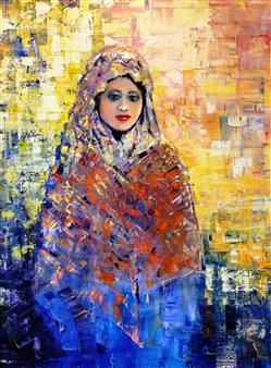 Monika Gloviczki - Peace and Love Oil on Canvas, Paintings