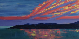 Leni Berliner - 4th of July Dawn Acrylic on Canvas, Paintings