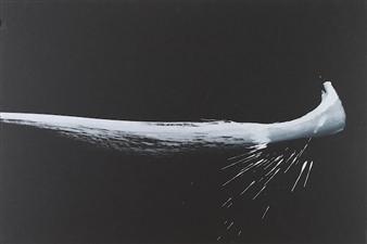 Michael Lam - Canoe Under Moonlight Watercolor, Paintings