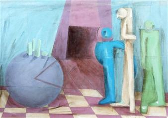 Julio Lopez Vietri - The Lost Production Mixed Media on Canvas, Mixed Media