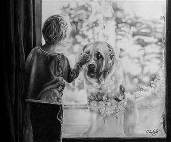Tiko Sanikidze - Never Leave You Pencil on Paper, Drawings