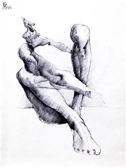 Larry Greenberg - 1998 4-24 Pen on Paper, Drawings