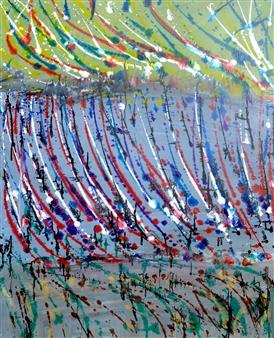 Stivi - Strange Space Acrylic on Canvas, Paintings