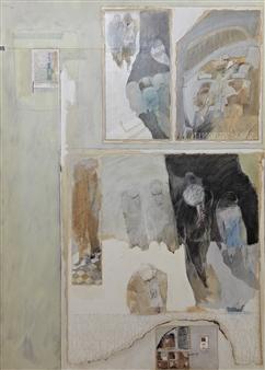 Pedro Alberti - The Blue Dress of Monica Acrylic & Mixed Media on Canvas, Mixed Media