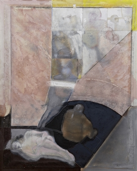 Pedro Alberti - Silent Witnesses Acrylic & Mixed Media on Canvas, Mixed Media