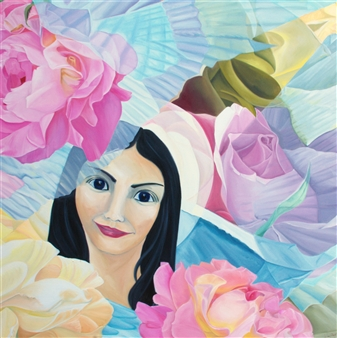 Winne - Mary Beautiful Oil on Canvas and Wood, Paintings