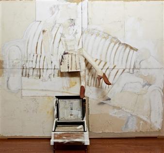 Pedro Alberti - Conversation With Carol Mixed Media on Canvas, Mixed Media