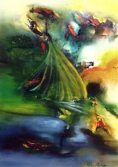 Patricia Queiruga - Atardecer Acrylic on Canvas, Paintings