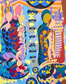 Sofya Tsvetikova - Moon Strike Acrylic on Canvas, Paintings