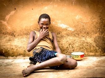 Laurent Moreau - Child of Benin Photographic Print on Dibond, Photography
