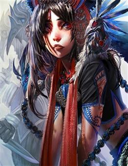 Han-Yuan Yu - Azure Blue Psychic Digital Print on Canvas, Digital Art