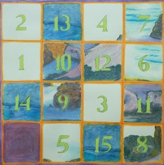 Martin Randall Joyce - Fifteen Puzzle: San Francisco Bay Watercolor & Pencil on Paper, Drawings