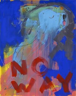 Lars Aukrust - No Way! Acrylic on Canvas, Paintings