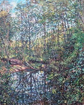 James Chisholm - Millbrook Pond Oil on Linen, Paintings