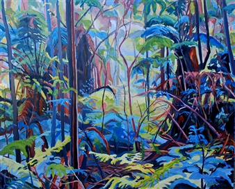 Barbara Bateman - Colourful Sanctuary Oil on Linen, Paintings