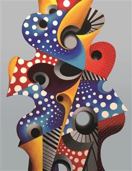 Chen Jin - Ocean Acrylic on Canvas, Paintings