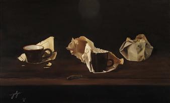 Yuliya Pogreb - Cups Oil on Canvas, Paintings
