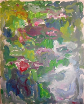 Susan Marx - Water Lilies in Monet's Pond, Giverny Acrylic on Canvas, Paintings