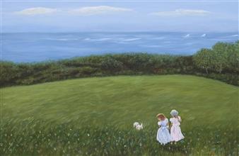 Johanna Wray - Sisters Acrylic on Canvas, Paintings