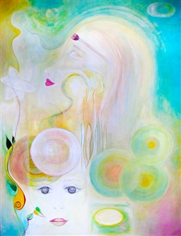 Mague Brewer - Inspired Acrylic & Gouache on Canvas, Paintings