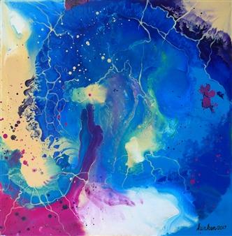 Kankan Ramos - Energy Flows IV Acrylic on Canvas, Paintings