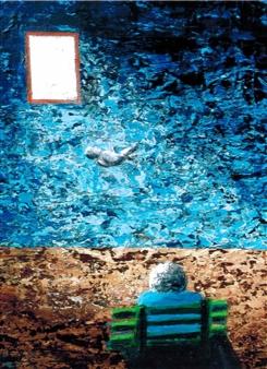 Frank M. Alba - A New Life Acrylic on Canvas, Paintings