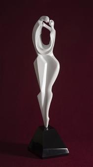 Maria Bayardo - Il Bacio (The Kiss) Fiberglass, Sculpture