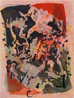 Donna Broder - Big Island Volcano Monotype on Fine Art Paper, Prints
