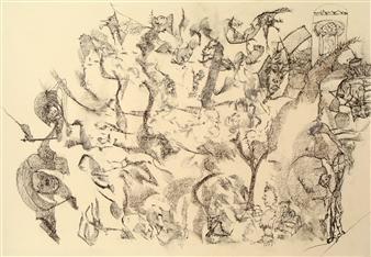 Pep Mazzini - Shadow II Graphite on Paper, Drawings