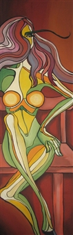 Falcan Iulia-Lavinia - Waiting Oil & Acrylic on Canvas, Paintings