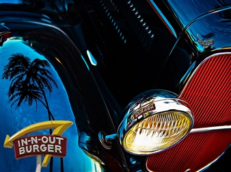 Bill Young - IN-N-OUT Duece Digital Artwork on Canvas, Digital Art