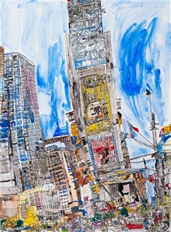 Ping Lian Yeak - 14003 New York Watercolor & Ink on Paper, Paintings