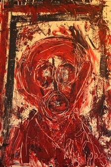 Philippe Thélin - Extreme Self-portrait Acrylic on Canvas, Paintings