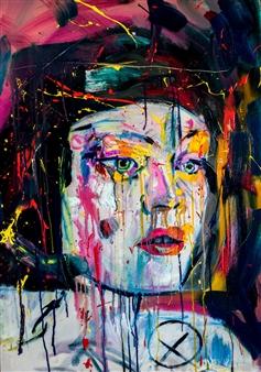 Chris Silver - Corrosive Acrylic & Oil on Canvas, Paintings