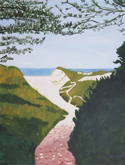 Leni Berliner - Baylake Beach Acrylic on Canvas, Paintings