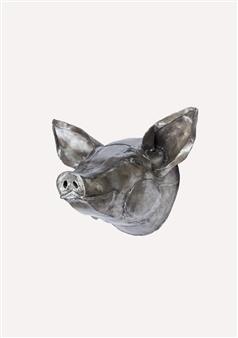 Lida Boonstra - Pig Unicum in Steel, Sculpture