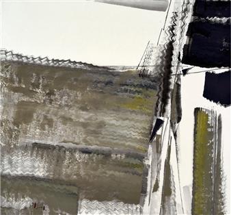 Sherman Lin - Falling Mountains No 67 Ink & Mixed Media on Paper, Mixed Media