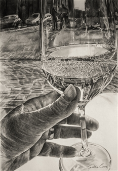 Cynthia Evers - Réflexion Crayon on Board, Drawings