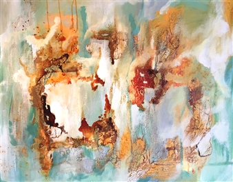 Fariba Baghi - Step on Clouds Mixed Media on Canvas, Drawings