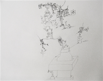 Pep Mazzini - Where Are You? Ink on Paper, Drawings
